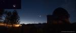 Соединение Венеры с Луной над СКАС КГУ SX-220HS, мозаика из двух снимков 15s ISO100 (CHDK-RAW). 19.08.2017 СКАС, САО, Карачаево-Черкессия, Северный Кавказ