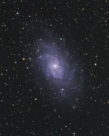 Галактика М33 в Треугольнике.