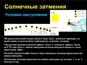 Скриншот Лекции 22. Затмения