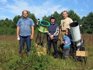 Участники астрослета (не все): Григорий (Чебоксары), Эдуард (Новочебоксарск), Иван и Алексей (Вурнары).
