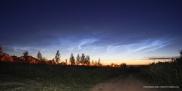 Серебристые облака над Чебоксарской ГЭС в ночь с 29 на 30 июня 2016г.